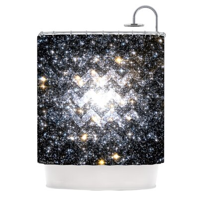 Messier Chevron Polyester Shower Curtain