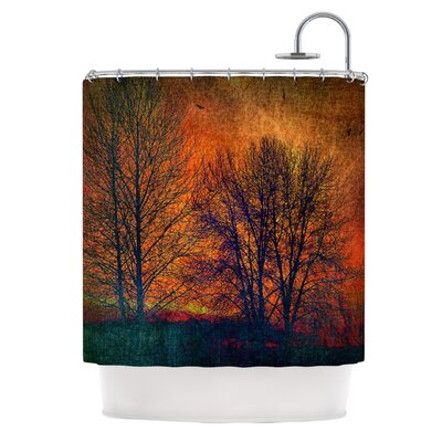 Silhouettes Polyester Shower Curtain
