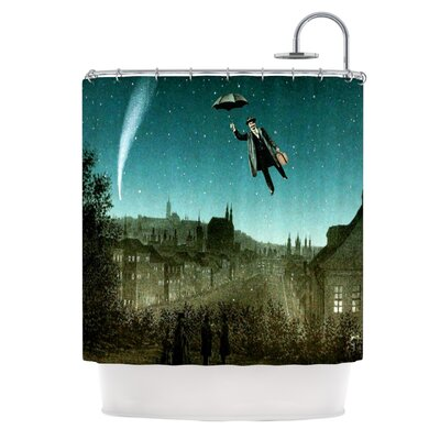 The Departure Polyester Shower Curtain