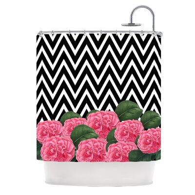 Camellia Polyester Shower Curtain