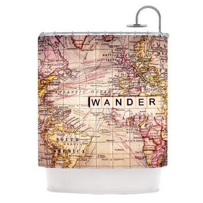 Wander Polyester Shower Curtain