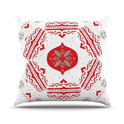 Snowjoy by Miranda Mol Throw Pillow Size: 18 H x 18 W x 3 D, Color: White