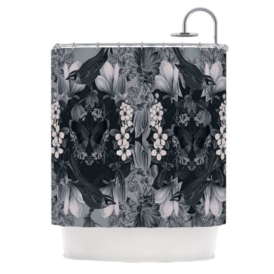 Magnolia Cushion Polyester Shower Curtain