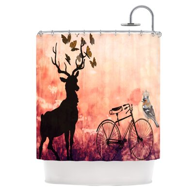 Vintage Forest Polyester Shower Curtain