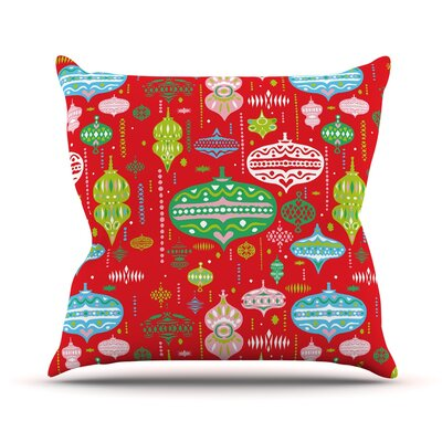 Ornate by Miranda Mol Ornaments Throw Pillow Size: 18 H x 18 W x 3 D, Color: Red