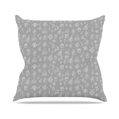 Miniature Christmas by Snap Studio Throw Pillow Size: 26 H x 26 W x 5 D, Color: Gray/White