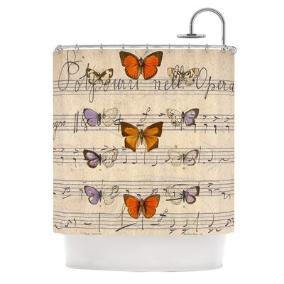 Butterfly Opera Polyester Shower Curtain