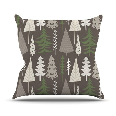 Happy Forest Throw Pillow Size: 20 H x 20 W x 4 D, Color: Brown