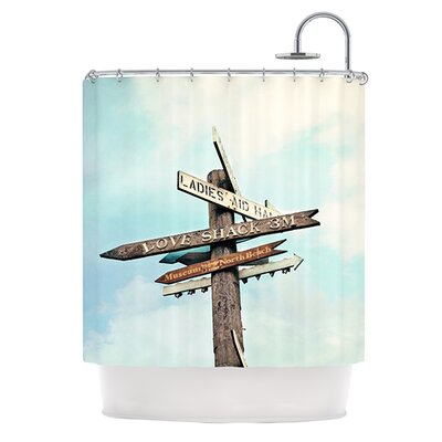 Love Shack Polyester Shower Curtain