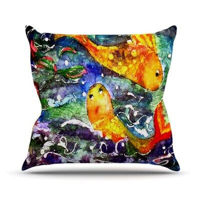 Fantasy Fish  Throw Pillow Size: 16 H x 16 W