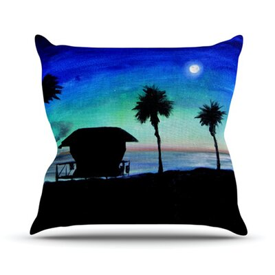 Carlsbad State Beach Throw Pillow Size: 26 H x 26 W