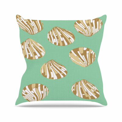 Scallop Shells Throw Pillow Size: 18 H x 18 W