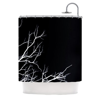 Winter Shower Curtain Color: Black