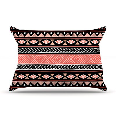 Mojave Black by Skye Zambrana Featherweight Pillow Sham Size: King, Color: Black, Fabric: Woven Polyester