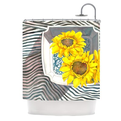 Finall Sunflower Polyester Shower Curtain