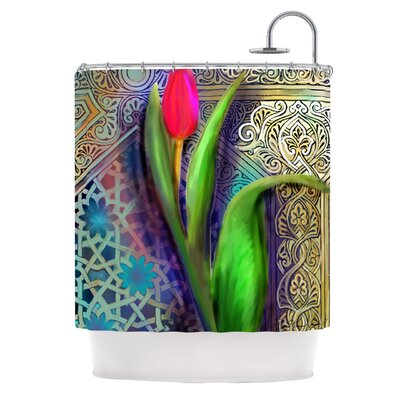 Arabesque Tulip Polyester Shower Curtain