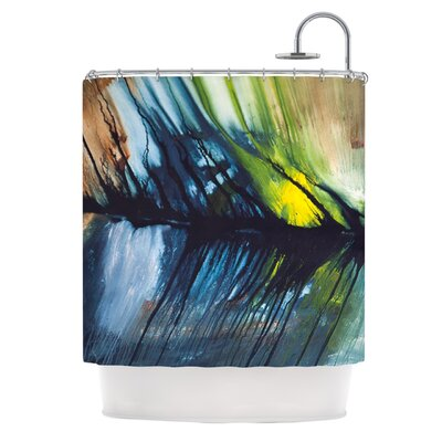 Gravity Falling Polyester Shower Curtain