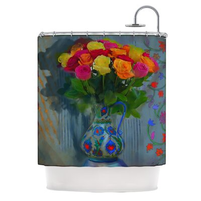 Spring Bouquet Polyester Shower Curtain