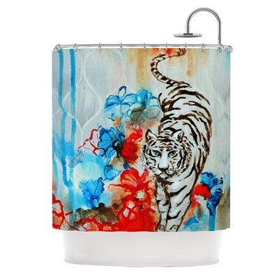 Tiger Polyester Shower Curtain