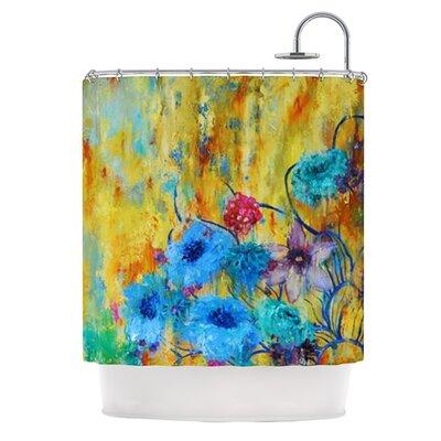 Cosmic Love Garden Polyester Shower Curtain