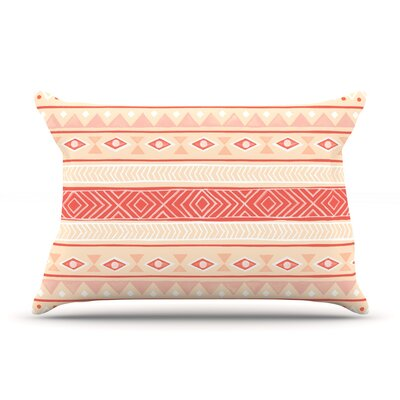 Mojave Black by Skye Zambrana Featherweight Pillow Sham Size: King, Color: Orange, Fabric: Woven Polyester