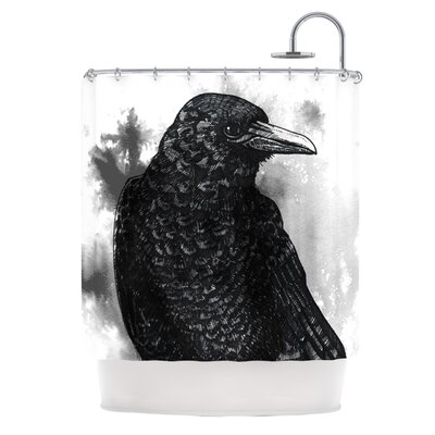 Crow Polyester Shower Curtain