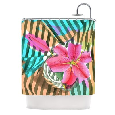 Lilly N Stripes Polyester Shower Curtain