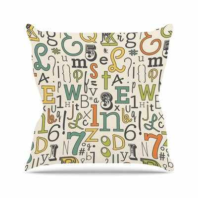 Down The Alleyway Throw Pillow Size: 18 H x 18 W