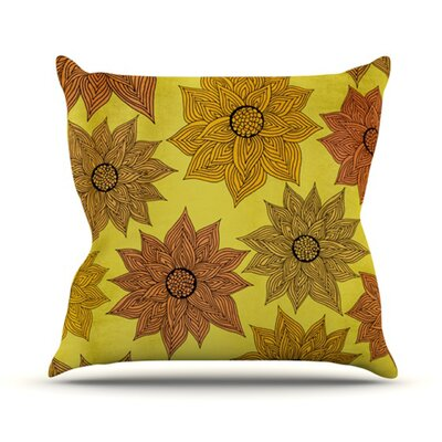 Its Raining Flowers Throw Pillow Size: 16 H x 16 W