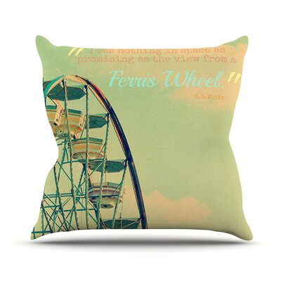 Ferris Wheel Throw Pillow Size: 18