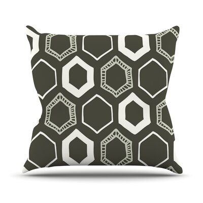 Hexy Throw Pillow Size: 18 H x 18 W