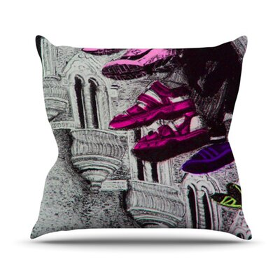 Shoes in SF Throw Pillow Size: 18 H x 18 W