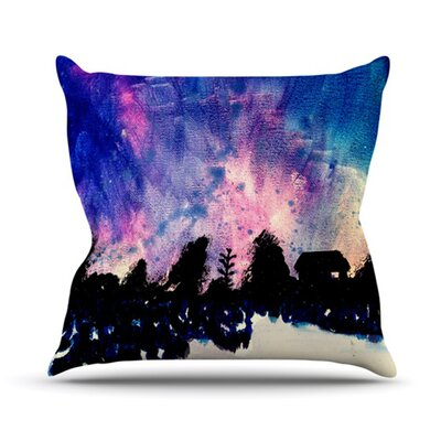 First Snow Throw Pillow Size: 18 H x 18 W