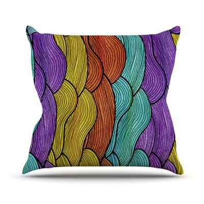 Textiles Throw Pillow Size: 18 H x 18 W