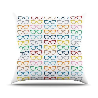 Throw Pillow Size: 18 H x 18 W, Color: Rainbow Specs