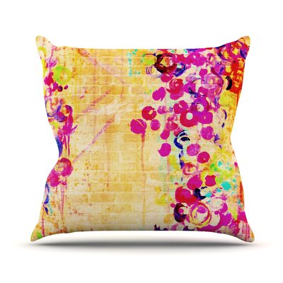 Wall Flowers by Ebi Emporium Throw Pillow Size: 26 H x 26 W x 5 D