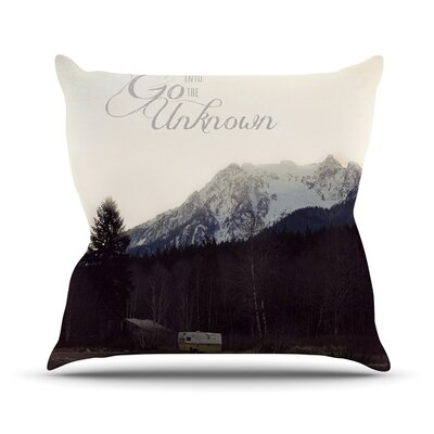 Go into The Unknown Throw Pillow Size: 26 H x 26 W