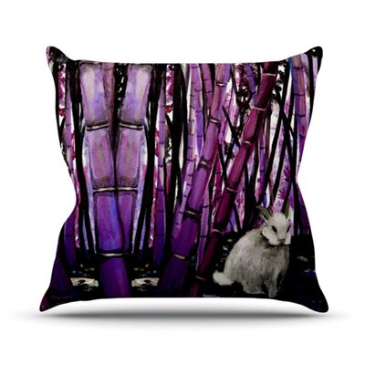 Bamboo Bunny Outdoor Throw Pillow