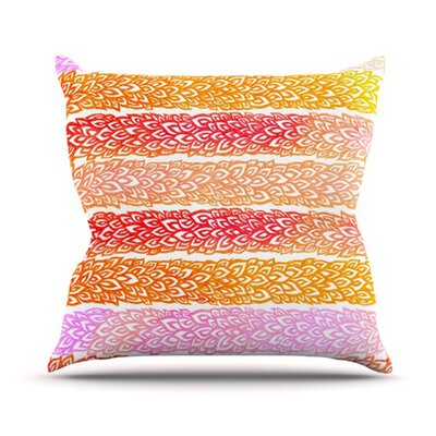 Throw Pillow Size: 16 H x 16 W, Color: Leafs From Paradise