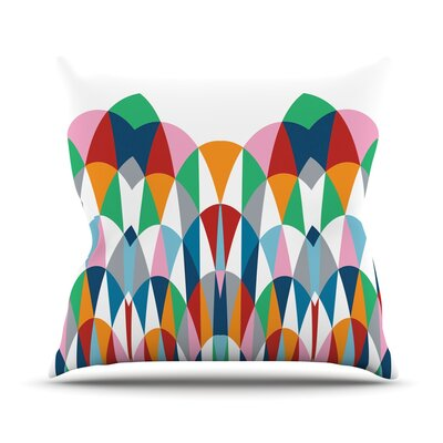 Modern Day Arches Throw Pillow Size: 18 H x 18 W