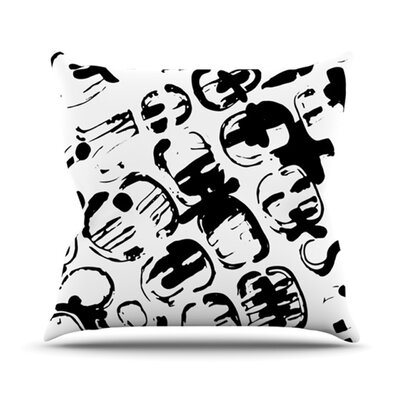 Throw Pillow Color: Theodoras Tantrum, Size: 26 H x 26 W