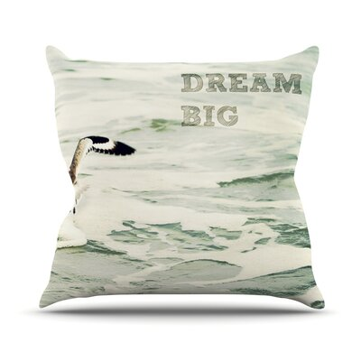 Dream Big Throw Pillow Size: 16 H x 16 W