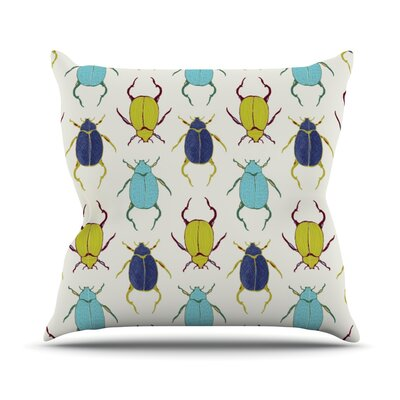 Beetles Throw Pillow Size: 20 H x 20 W
