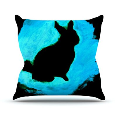 Throw Pillow Size: 18 H x 18 W, Color: Blue Moon Bunny