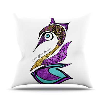 Dreams Swan Throw Pillow Size: 26 H x 26 W