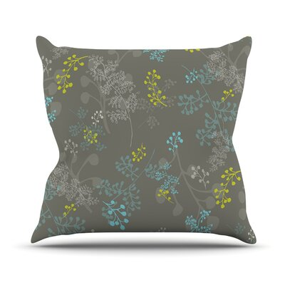 Throw Pillow Size: 26 H x 26 W, Color: Ferns Vines Green
