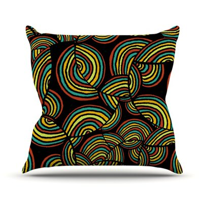 Infinite Depth Throw Pillow Size: 18 H x 18 W