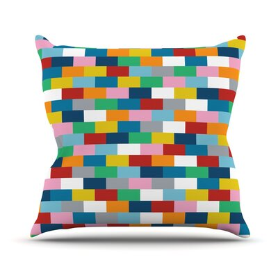Bricks Throw Pillow Size: 16 H x 16 W