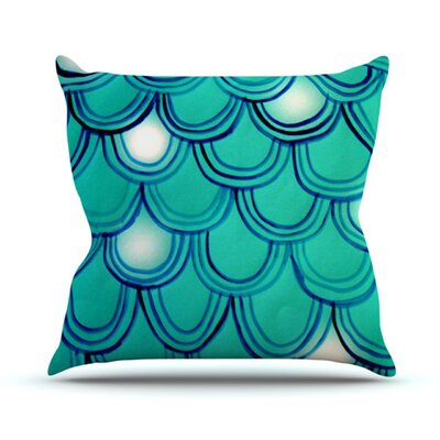 Throw Pillow Size: 16 H x 16 W, Color: Mermaid Tail