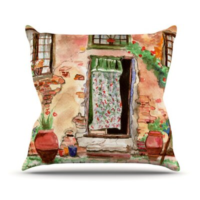 Tuscan Door Throw Pillow Size: 16 H x 16 W